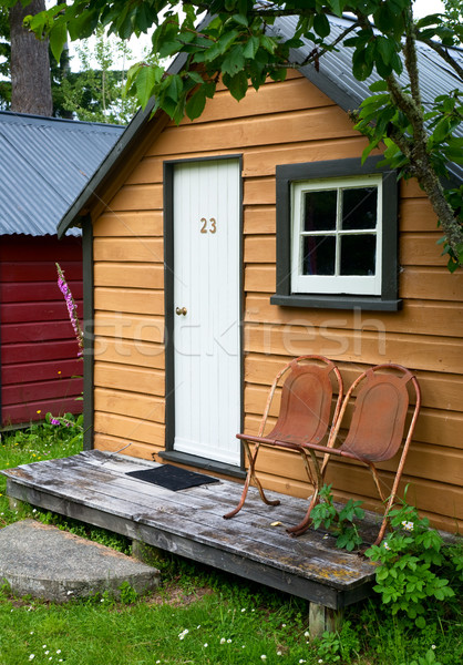 Camping cabin Stock photo © naumoid
