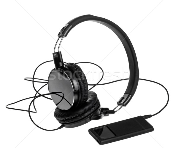 Mp3 player with headphones Stock photo © naumoid