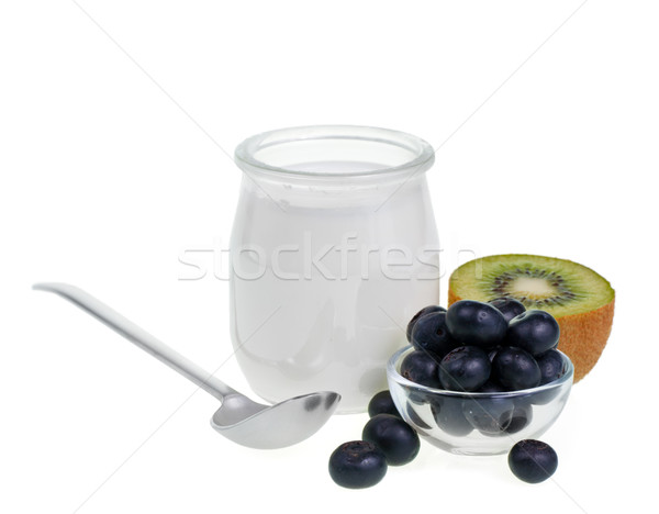 Yogurt with fruits Stock photo © naumoid