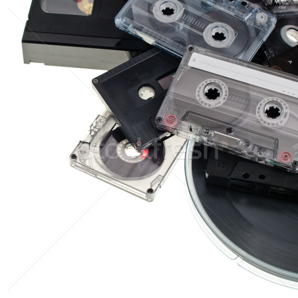 Audio tape hoop vintage video Stockfoto © naumoid