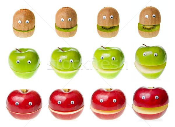 フルーツ 面白い キウイ リンゴ 白 ストックフォト © naumoid
