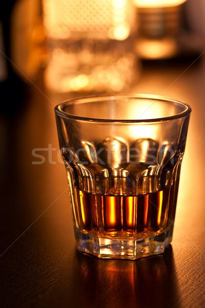 Glass of whiskey Stock photo © naumoid