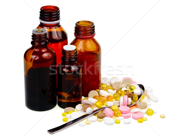 Vial and pills Stock photo © naumoid