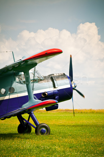 Retro sport airplane Stock photo © naumoid