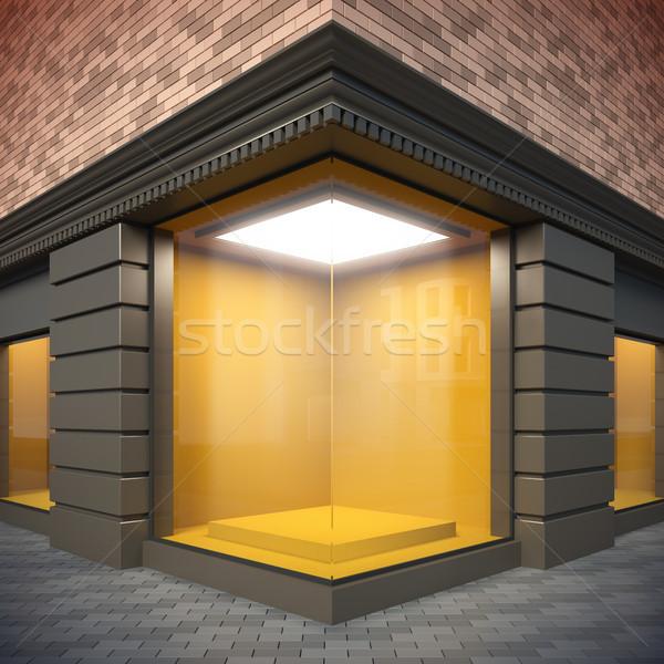 Blank template corner showcase. Stock photo © nav