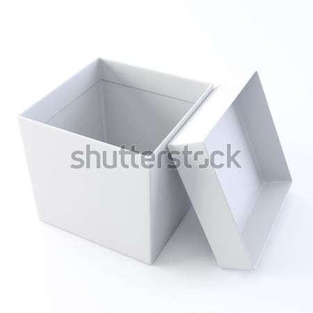 White opened empty box. Stock photo © nav