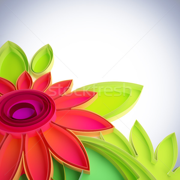 Colorful flower in quilling techniques. Stock photo © nav