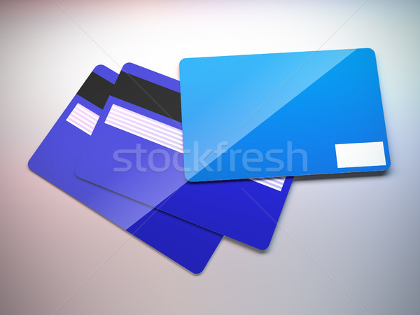 Plastic credit cards. Stock photo © nav