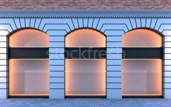 Classical empty storefront. Stock photo © nav