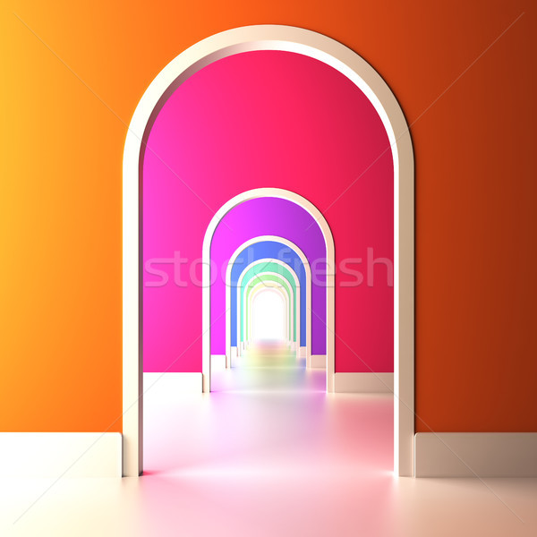 Archway to the colorful future. Stock photo © nav