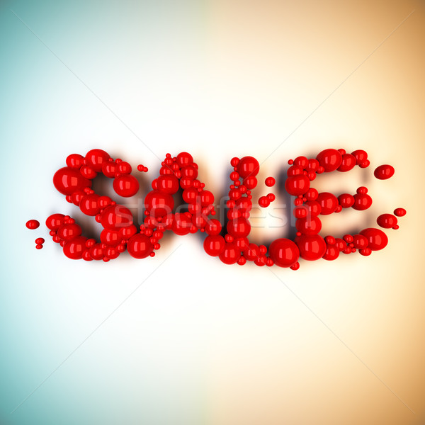 Sale word from red balls. Stock photo © nav