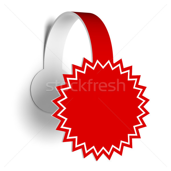 Wobbler for promote various products. Stock photo © nav