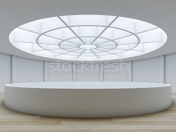 Minimalist interior with atrium. Stock photo © nav