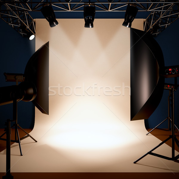 A photo studio background template. Stock photo © nav