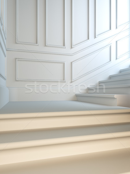 Staircase in classical style. Stock photo © nav