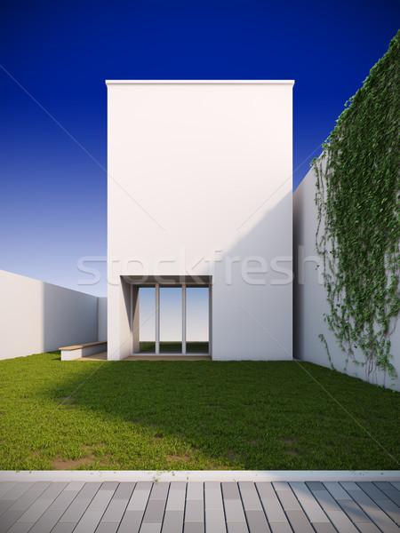 現代 家 ミニマリスト スタイル 3次元の図 建物 ストックフォト © nav