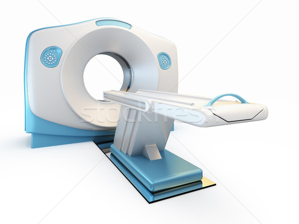 MRI scanner, isolated on white background. Stock photo © nav