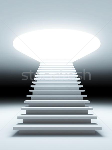 階段 将来 3次元の図 ビジネス 光 スペース ストックフォト © nav