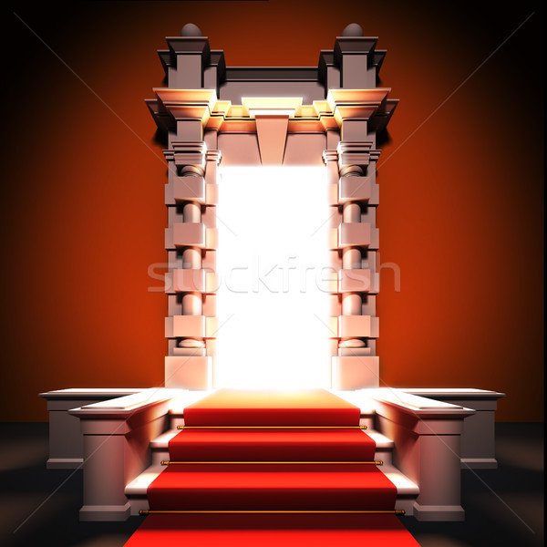 Red carpet way to classical portal. Stock photo © nav