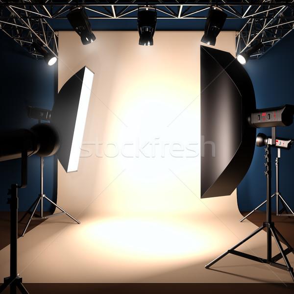 A photo studio background template. Stock photo © nav
