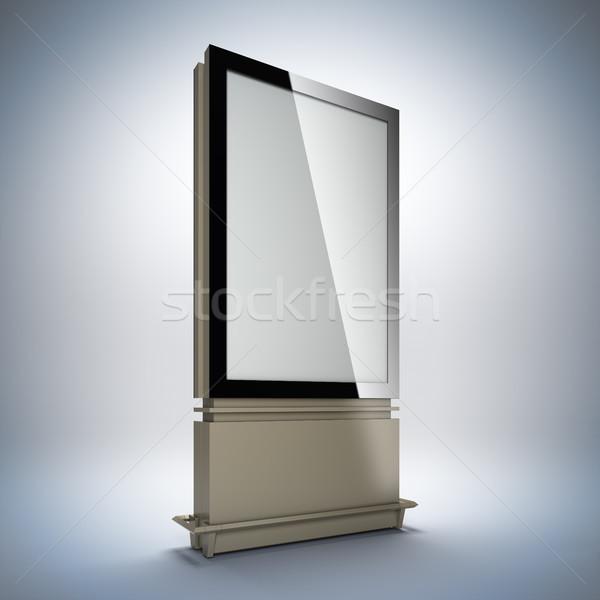 Blank vertical billboard. Stock photo © nav
