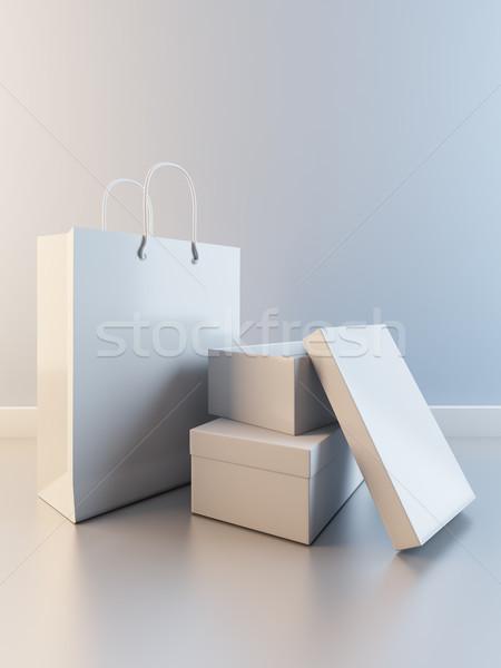紙袋 ボックス 靴 3次元の図 紙 抽象的な ストックフォト © nav