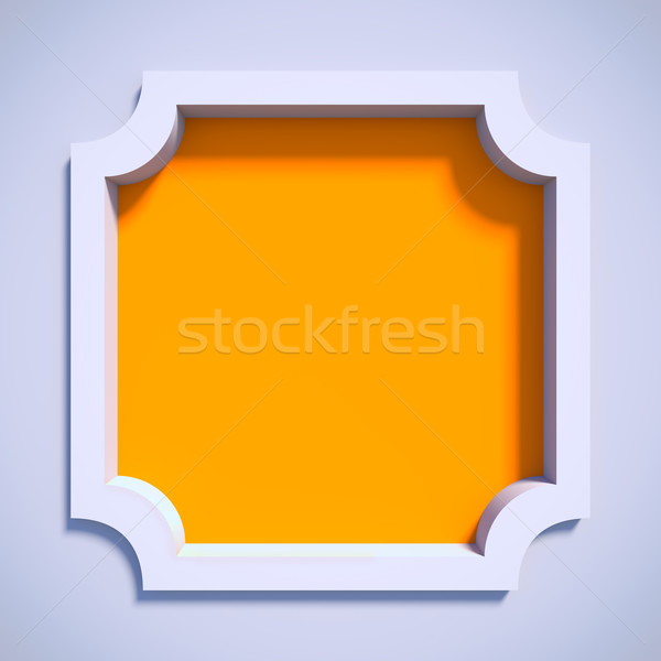 White empty frame. Stock photo © nav