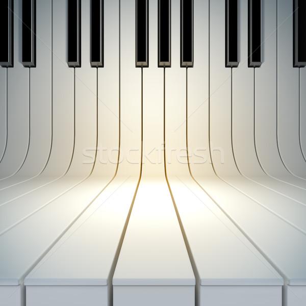 blank surface from piano keys Stock photo © nav