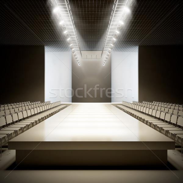Divat üres kifutópálya 3d illusztráció buli terv Stock fotó © nav