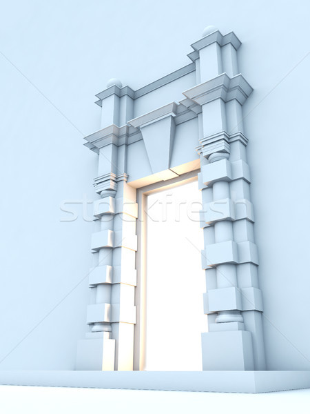 Classical portal with light inside. Stock photo © nav