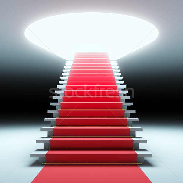 Red carpet to the future. Stock photo © nav
