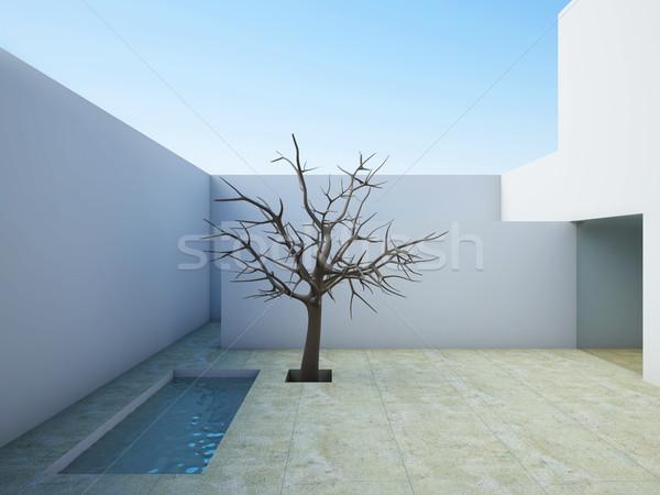 Modern patio. Stock photo © nav