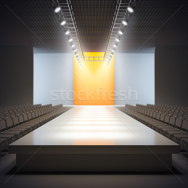 Fashion empty runway. Stock photo © nav