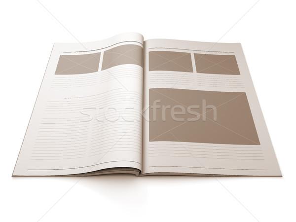 журнала пустая страница дизайна макет 3d иллюстрации иллюстрация Сток-фото © nav