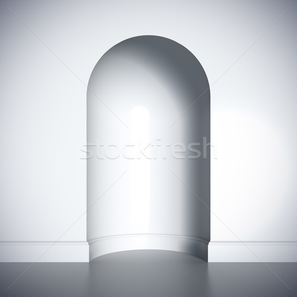 Blank template layout of white empty niche. Stock photo © nav