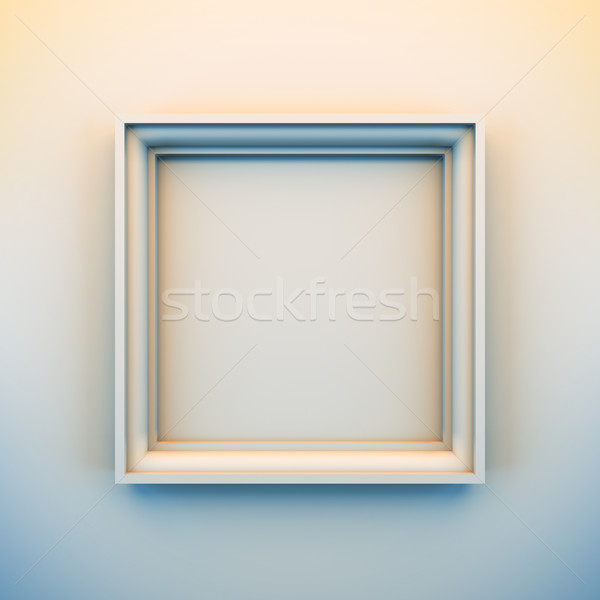 Empty white frame. Stock photo © nav