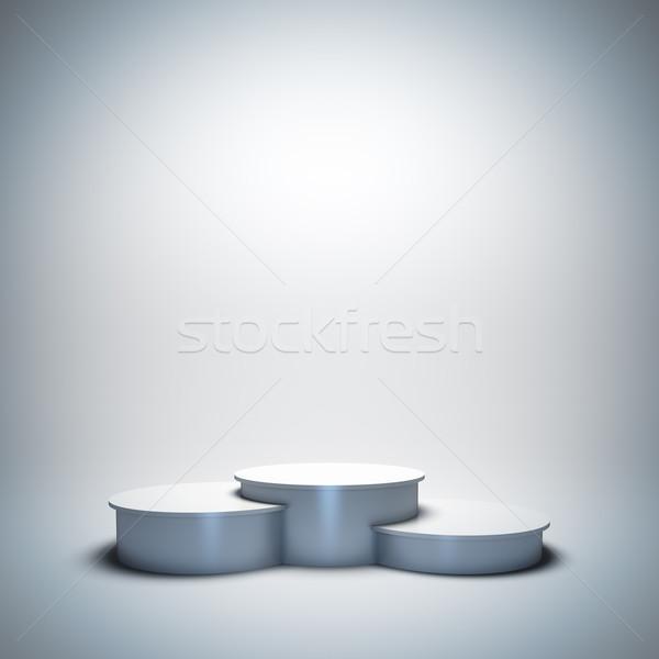 White empty sport winner podium. Stock photo © nav