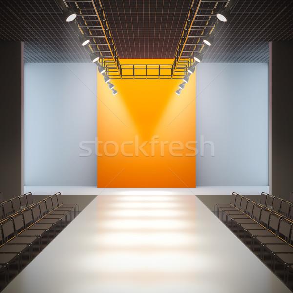 Moda vacío pista 3d luz diseno Foto stock © nav