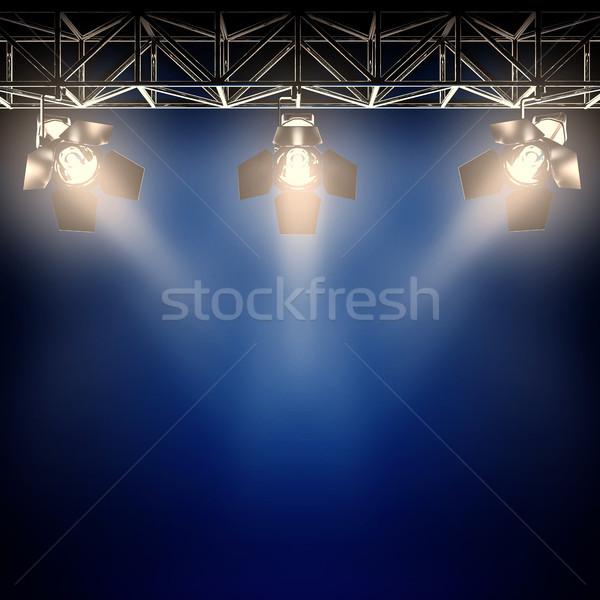 Backstage spotlights. Stock photo © nav