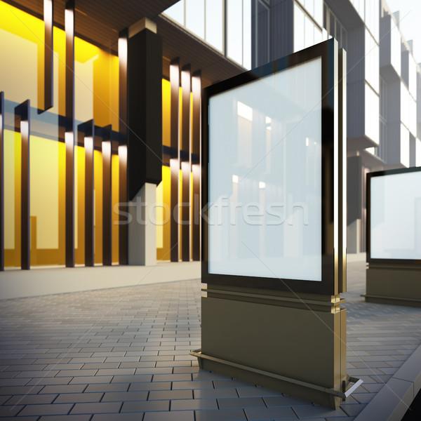 Vertical billboard in downtown. Stock photo © nav