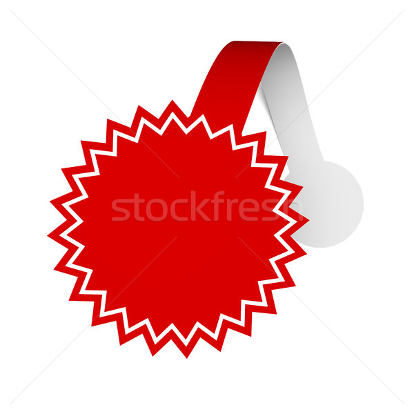 Stock photo: Wobbler for promote various products.
