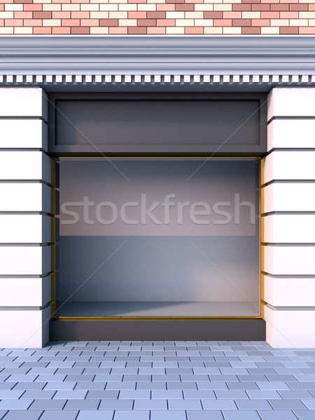 Classical empty storefront with the day lighting. Stock photo © nav
