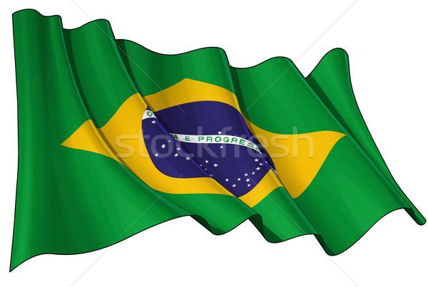 Flag of Brazil Stock photo © nazlisart