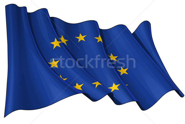 Flag of EU Stock photo © nazlisart