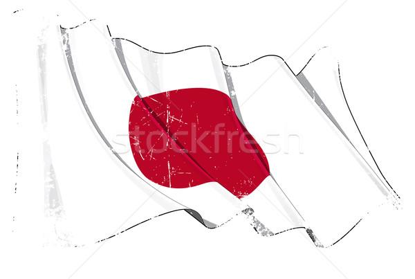Grange Flag of Japan Stock photo © nazlisart