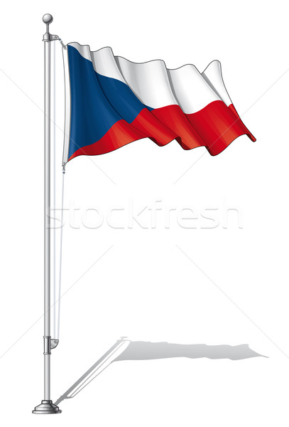 Flag Pole Czech Stock photo © nazlisart