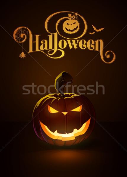 Donkere kwaad glimlach gewoonte typografie Stockfoto © nazlisart