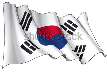 Flag of South Korea Stock photo © nazlisart