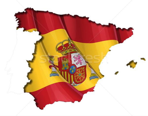 スペイン語 地図 カットアウト 詳しい ストックフォト © nazlisart