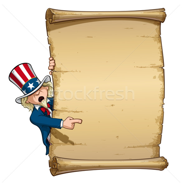 Uncle Sam Pointing at Declaration Stock photo © nazlisart